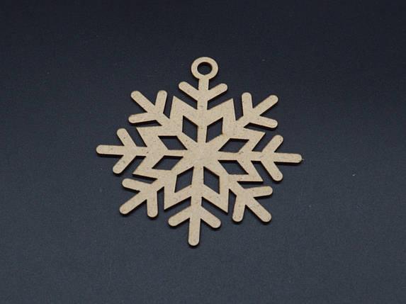 Деревянные заготовки снежинка 9см ДВП, фото 2
