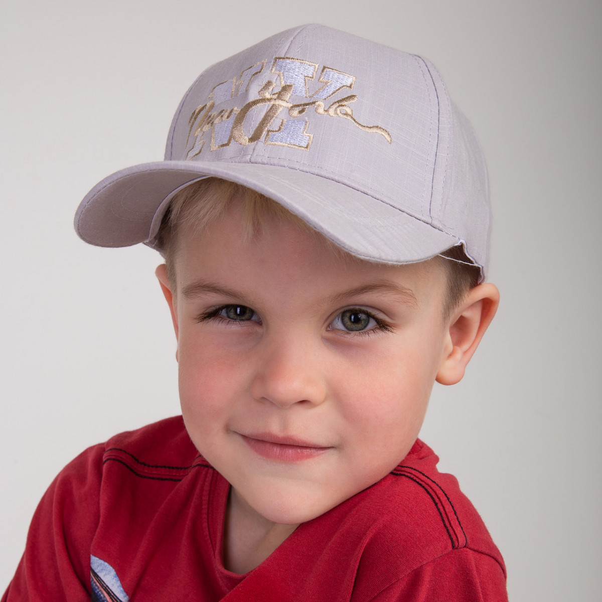 Льняная кепка для мальчика на лето - NY(к32)