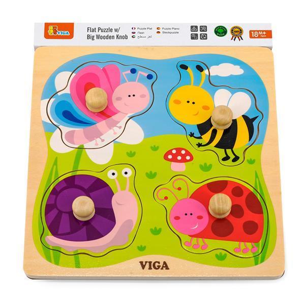 Деревянная рамка-вкладыш Viga Toys Насекомые (50131)