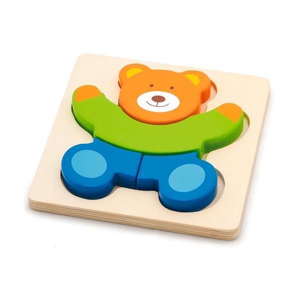 Деревянный мини-пазл Viga Toys Мишка (50169)