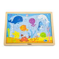 Деревянный пазл Viga Toys Океан, 24 эл. (50200), фото 1