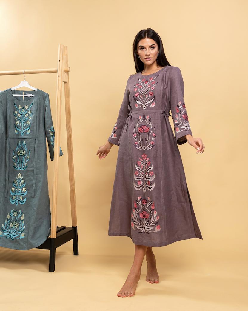 Платье вышиванка с орнаментом Тиса