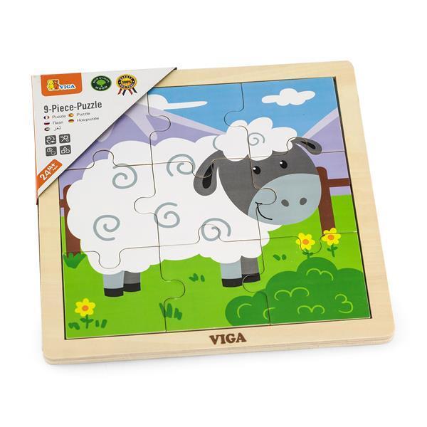 Деревянный пазл Viga Toys Овечка, 9 эл. (51437)
