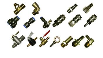 Фитинги, штуцера, заглушки, клапана, манометры, муфты (пневматические, топливные)