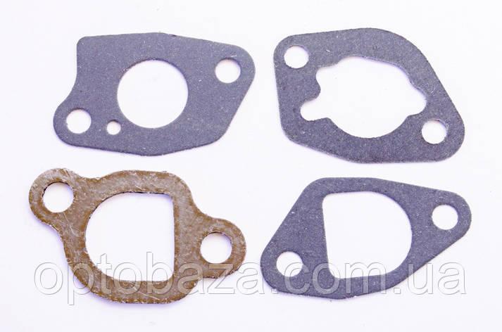 Прокладки карбюратора и глушителя (4шт) для двигателей 6,5 л.с. (168F), фото 2