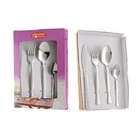 Набор столовых приборов детский 4 предмета (вилка, ложка, нож, ч.ложка)