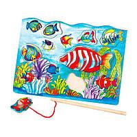 Деревянная рамка-вкладыш Viga Toys Магнитная рыбалка (58423), фото 1