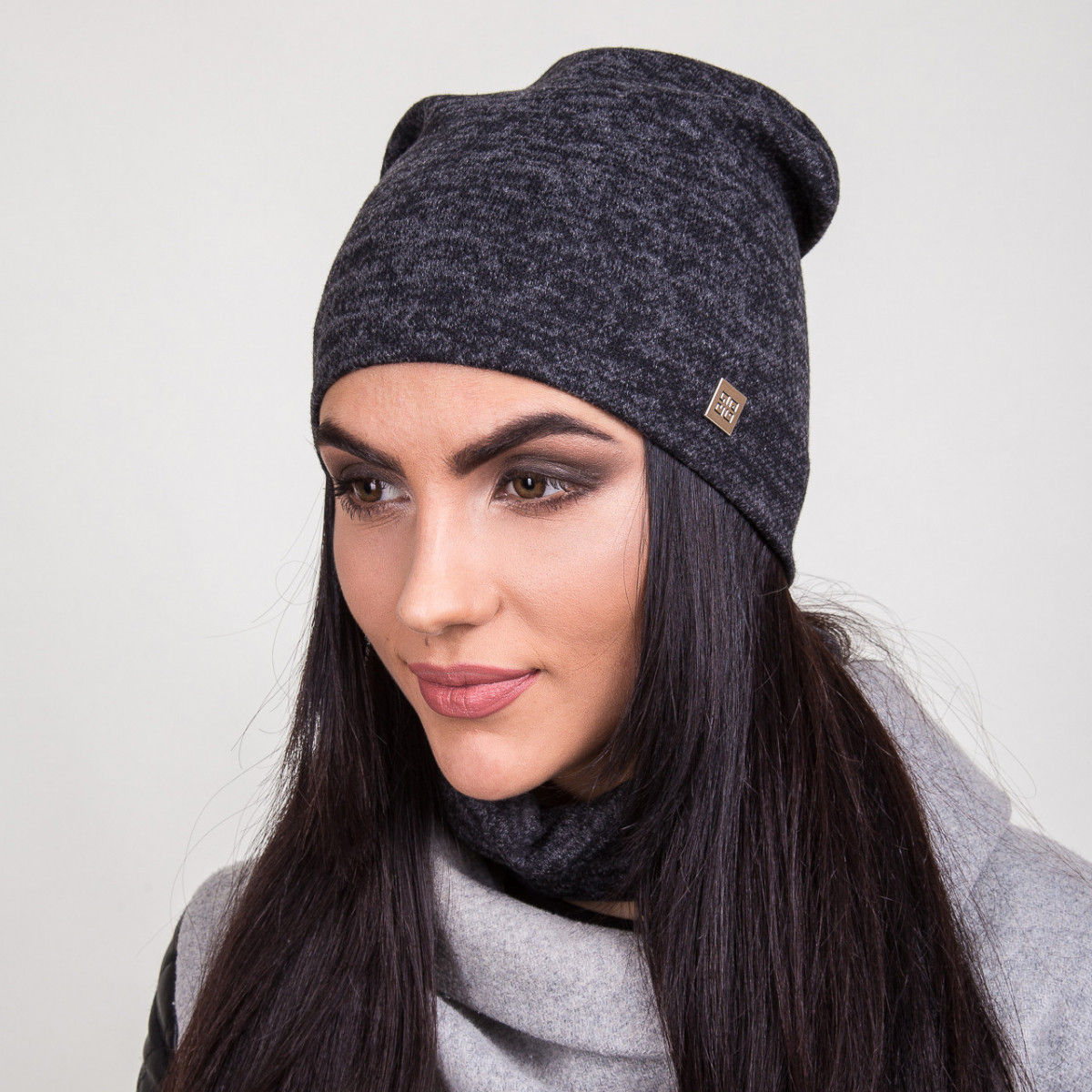 Модный серый весенний комплект для женщин - Артикул 2042b