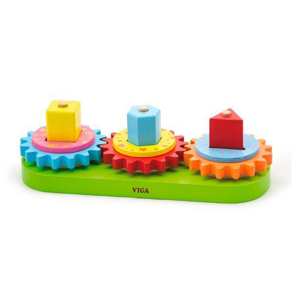 Деревянная пирамидка Viga Toys Шестеренки (59611)