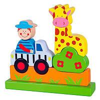 Магнитная деревянная игрушка Viga Toys Зоопарк (59702), фото 1