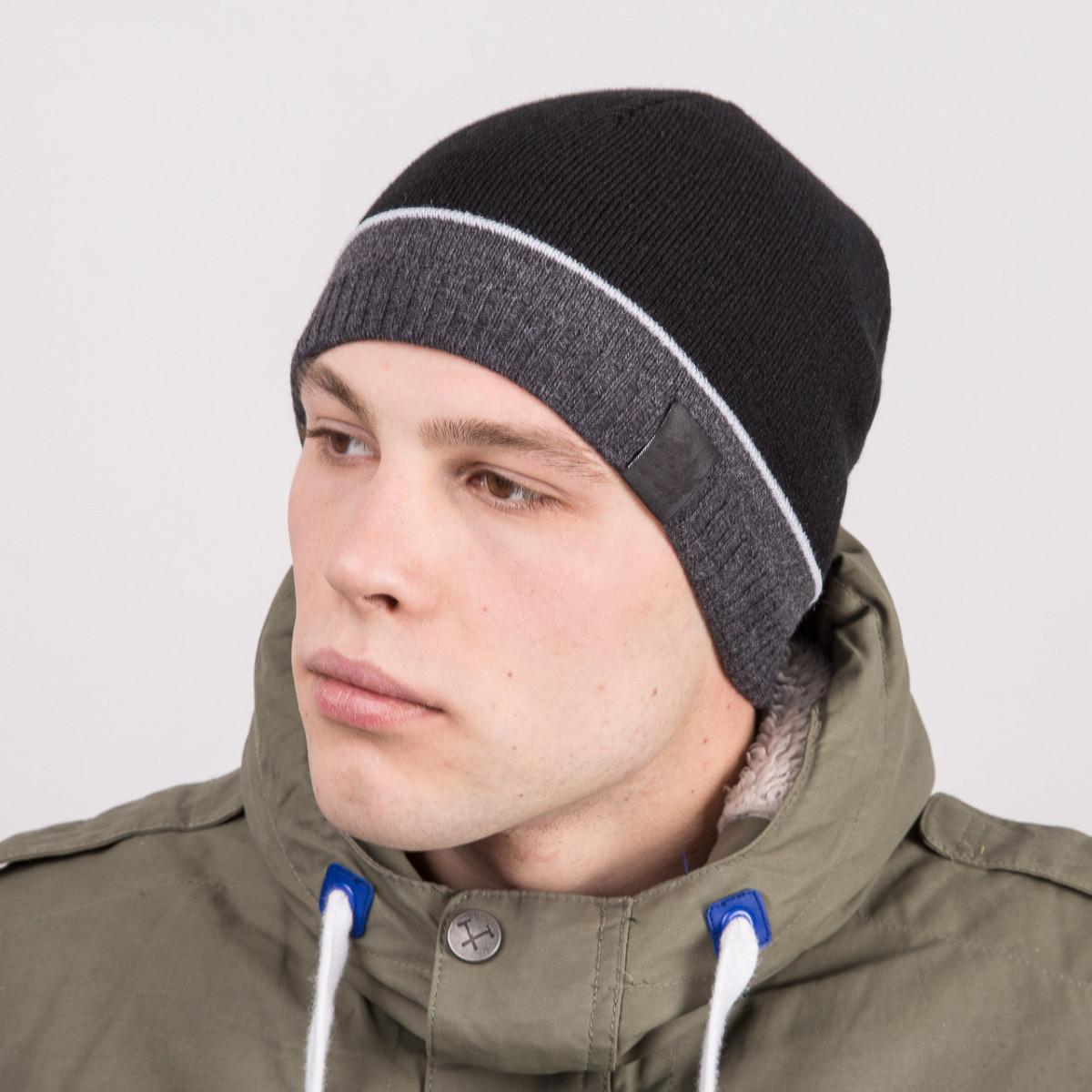 Мужская зимняя шапка casual - Артикул m48