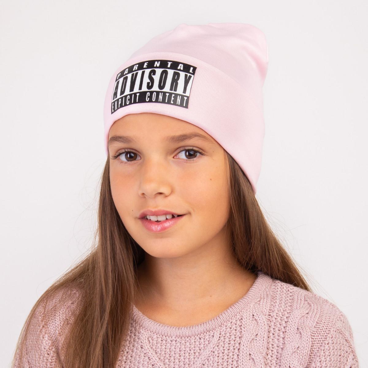 Осенняя шапка с отворотом для девочки - ADVISORY - Артикул 2325