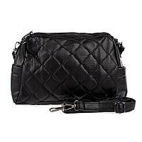 Женская сумка Spike через плечо черная, на молнии (999)