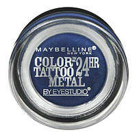 Тени для век Maybelline New York Color Tattoo Molten 24HR Blue Electric 75, 4 g, фото 1