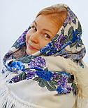 Молитва 353-2, павлопосадский платок шерстяной  с шерстяной бахромой, фото 4