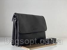 Женская сумка-клатч темно-коричневая шоколадная через плечо Pretty Woman