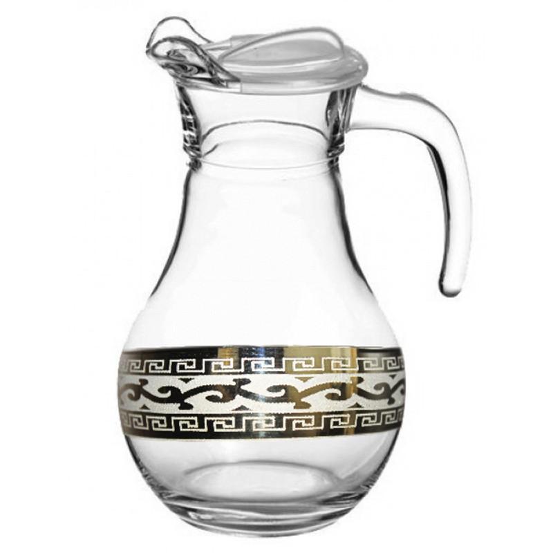 """Скляний глечик із золотим візерунком Гусь-Хрустальний Версаче """"GE08-3944"""""""