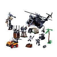 Конструктор полицейский Sluban для мальчиков от 6 лет, 830 деталей, большой набор