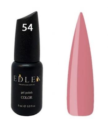 Гель-лак EDLEN №54 (темный пастельно-розовый, эмаль), 9 мл