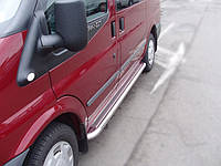 Ford Transit Боковые пороги Delux Ø60
