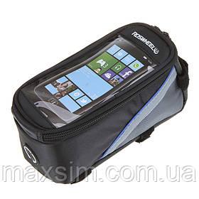 Велосипедная сумка на раму с чехлом под мобильный телефон Roswheel 4.8