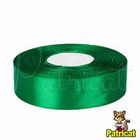 Лента атласная зеленая 2.5 см длина 1 м