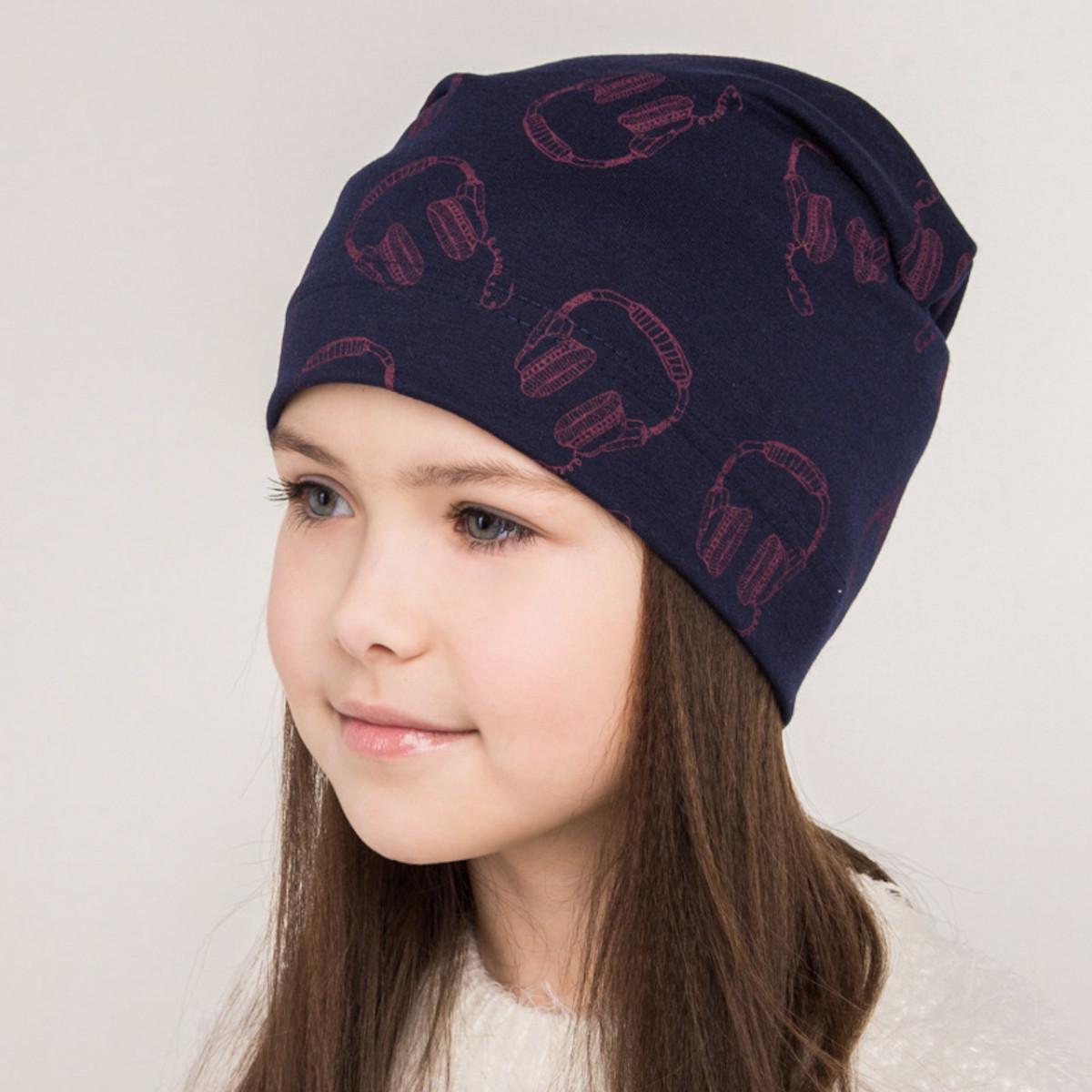 Шапка для дівчаток на весну-осінь 2018 оптом - Навушники 2 - Артикул 2043