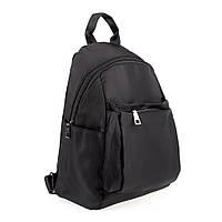 Женский рюкзак тканевой Spike черный (7053)