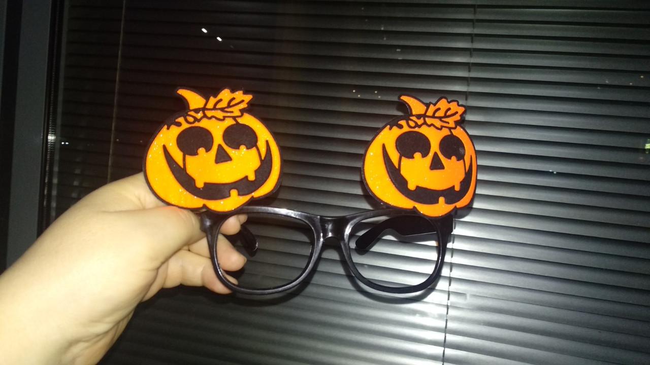 Очки  хэллоуин тыквы без стекол карнавальные ужасы хеллоуин