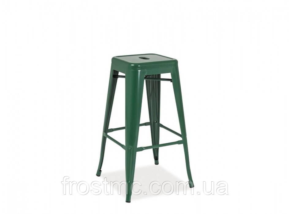 Барный стул Long dark green