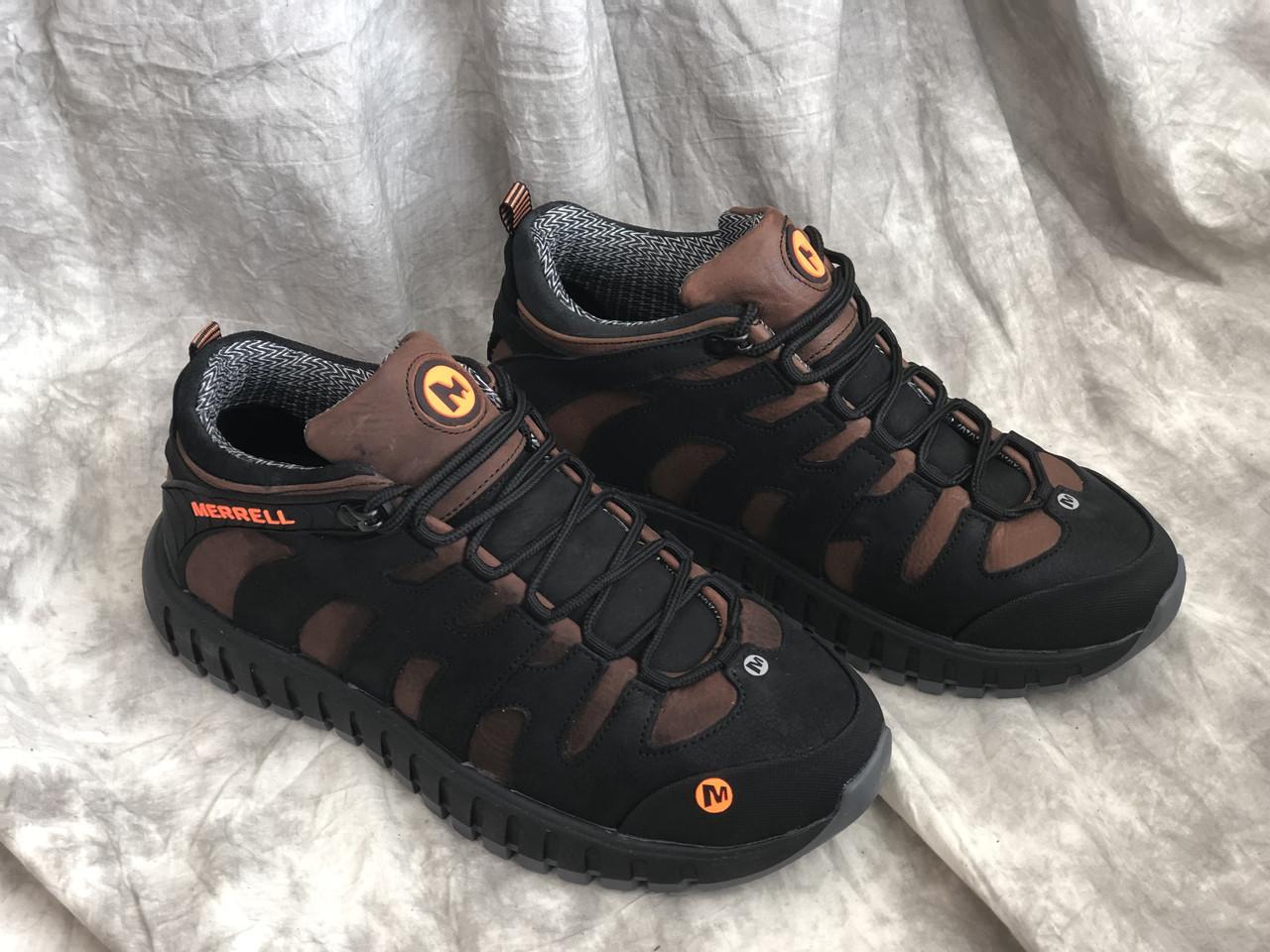 Кожаные мужские ботинки- кроссовки зима М - 9/2 кор размеры 40,41,42,43