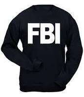 Свитшот мужской черный с принтом FBI