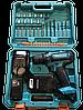 Шуруповерт Makita 550 DWE (24V, 5.0AH) с набором. Аккумуляторный шуруповёрт Макита, дрель шуруповерт, фото 3