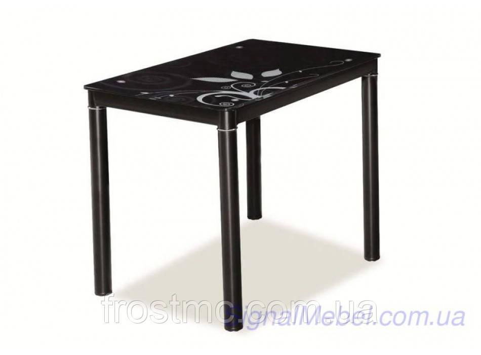 Стол Damar black (100x60 см)