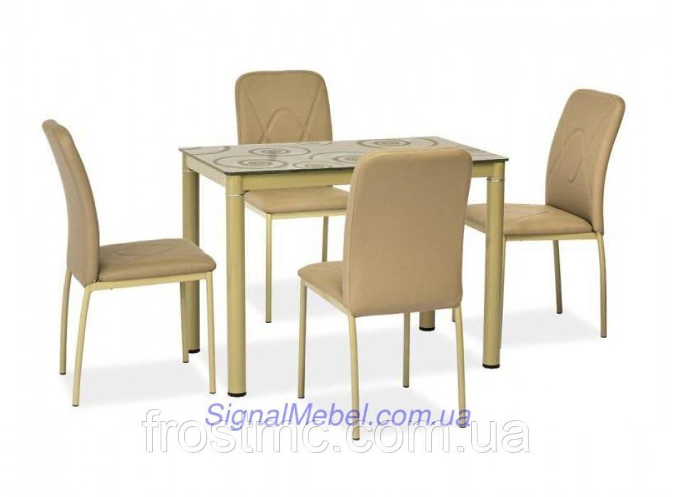 Стол Damar dark beige (100x60 см)