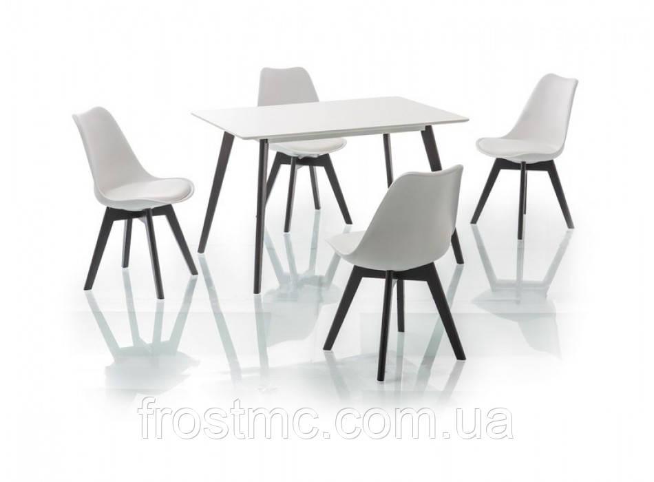 Стол Milan 120 white black