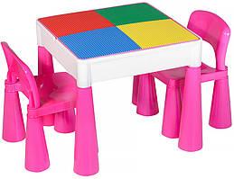 Стіл та 2 стільчика Tega Mamut 899P dark pink / white