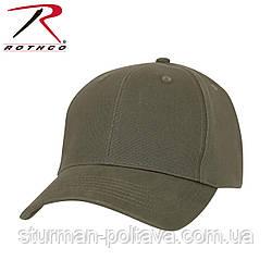 Бейсболка мужская   SOLID OLIVE DRAB LOW PROFILE CAP цвет олива хлопок ROTCHO  USA