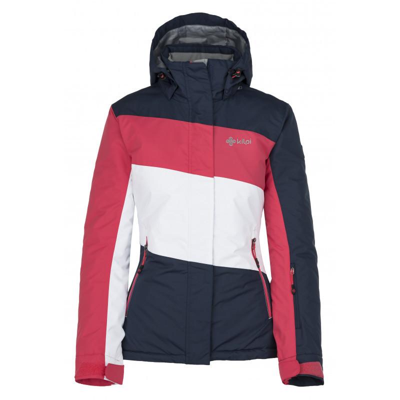 Куртка г/л Kilpi KALLY-W синий/белый/розовый 44