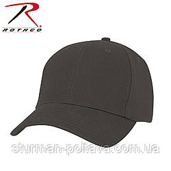 Бейсболка  мужская  BLACK LOW PROFILE CAP цвет  черный    хлопок  ROTCHO  USA