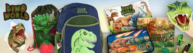 DINO WORLD - світ динозаврів німецькі шкільні пенали для хлопців