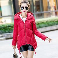 Куртка женская красная с углами  2017