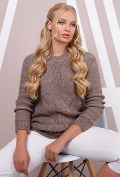 Эксклюзивный свитер в большом размере кофе 48-54