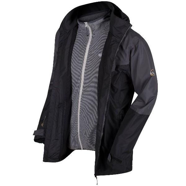 Куртка 3 В 1 Regatta Backmoor II Черный / Серый (RMP223-28P-XXL)