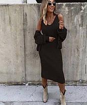 Стильное женское платье с коротким рукавом и накидкой ft-3003, фото 3