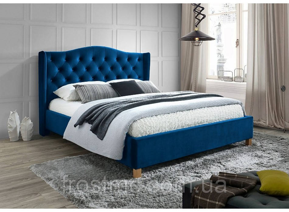 Кровать Aspen 160 velvet granat