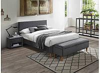 Кровать Azurro 140 velvet gray