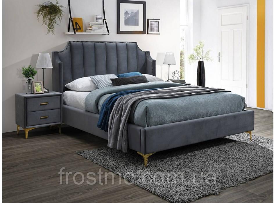 Кровать Monako 160 velvet gray