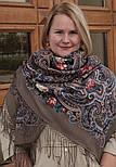 Исполнение желаний 1799-16, павлопосадский платок шерстяной (двуниточная шерсть) с шелковой вязаной бахромой, фото 4