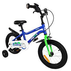 """Велосипед детский для мальчика 4-х колесный RoyalBaby Chipmunk MK 12"""", OFFICIAL UA, голубой от 2-4-х лет"""
